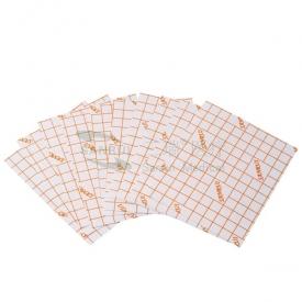 橙色网格无纺布切片